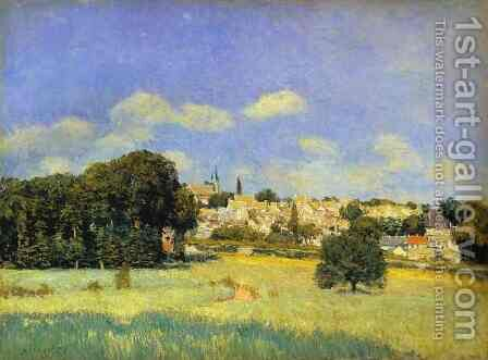 View Of Marly Le Roi   Sunshine Formerly View Of St Cloud by Alfred Sisley - Reproduction Oil Painting