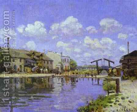 The Saint Martin Canal by Alfred Sisley - Reproduction Oil Painting
