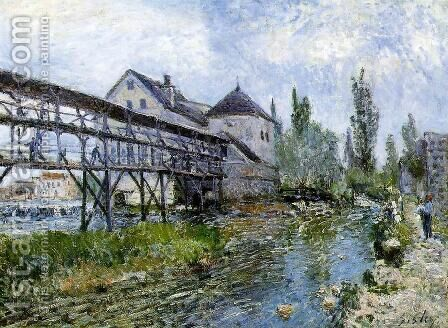 Provencher's Mill at Moret 1883 by Alfred Sisley - Reproduction Oil Painting
