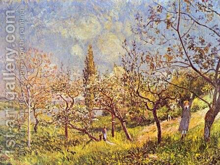 Orchard In Spring by Alfred Sisley - Reproduction Oil Painting