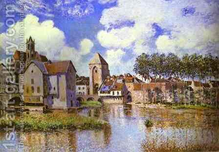 Moret Sur Loing by Alfred Sisley - Reproduction Oil Painting