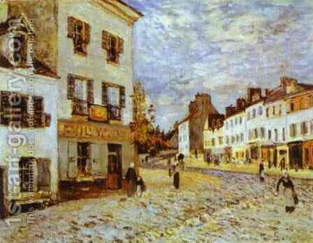 Market Place At Marly by Alfred Sisley - Reproduction Oil Painting