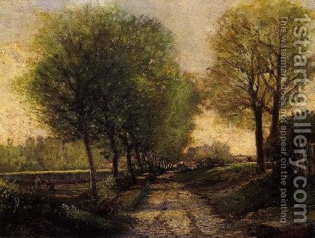 Lane Near A Small Town by Alfred Sisley - Reproduction Oil Painting