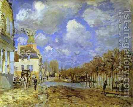 Flood At Port Marly II by Alfred Sisley - Reproduction Oil Painting