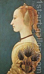 Portrait Of A Lady In Yellow c. 1465 by Baldovinetti Alessio - Reproduction Oil Painting