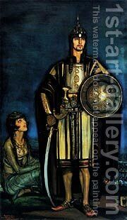 Beltran Masses  Rudolph Valentino In The Black Falcon by Beltran-masses Frederico - Reproduction Oil Painting