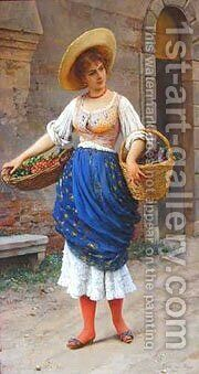 Eugene De The Fruit Seller by Blaas Eugen De - Reproduction Oil Painting