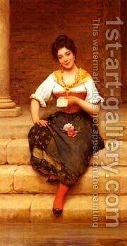 Eugene De The Love Letter by Blaas Eugen De - Reproduction Oil Painting