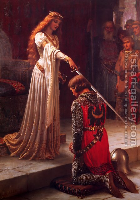 Blair Leighton The Accolade by Blair-leighton Edmund - Reproduction Oil Painting