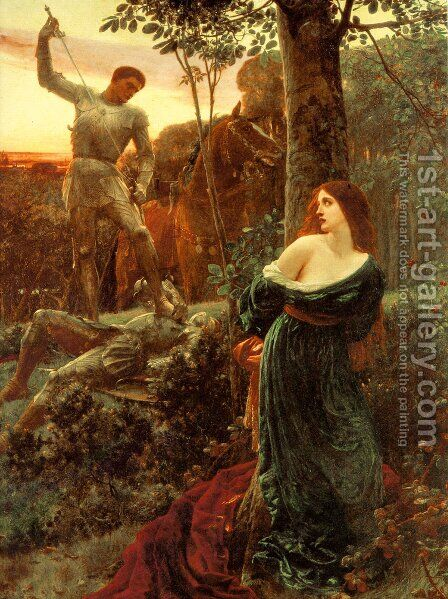 Dicksee Chivalry by Dicksie Frank - Reproduction Oil Painting