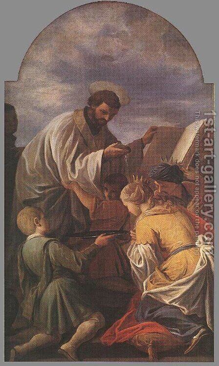 Saint Francis Xavier 1701 by Andrea Pozzo - Reproduction Oil Painting