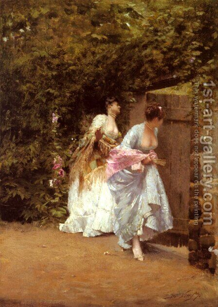 Return From The Ball by Giuseppe de Nittis - Reproduction Oil Painting
