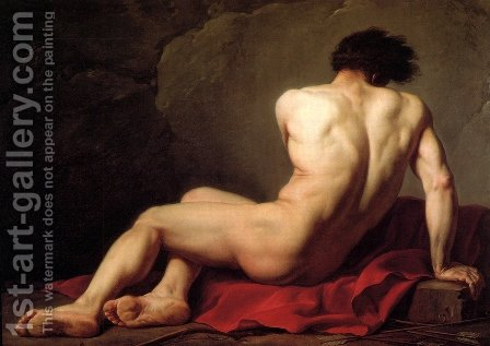 Male Nude Known As Patroclus by Jacques Louis David - Reproduction Oil Painting