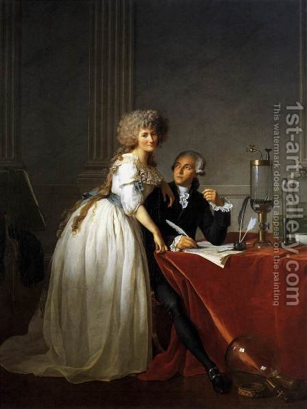 Portrait of Antoine-Laurent and Marie-Anne Lavoisier 1788 by Jacques Louis David - Reproduction Oil Painting