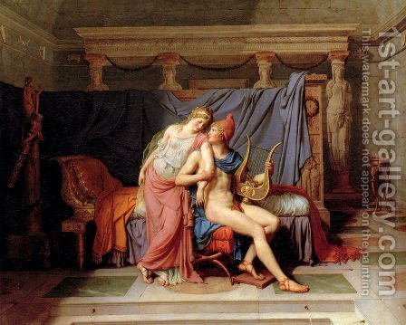 The Loves of Paris and Helen 1788 by Jacques Louis David - Reproduction Oil Painting