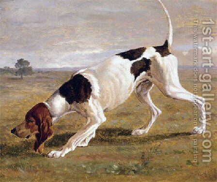 A Pointer In A Landscape by Jacques Laurent Agasse - Reproduction Oil Painting