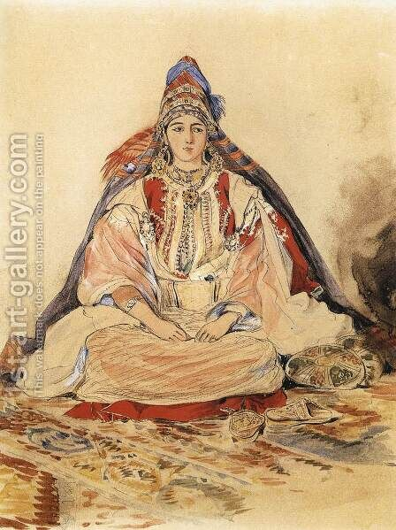 Jewish Bride 1832 by Eugene Delacroix - Reproduction Oil Painting