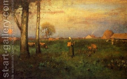 Sundown by George Inness - Reproduction Oil Painting