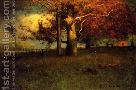 Early Autumn  Montclair by George Inness - Reproduction Oil Painting