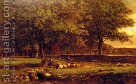 Evening by George Inness - Reproduction Oil Painting