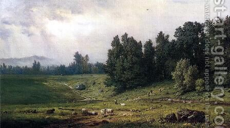 Landscape With Sheep by George Inness - Reproduction Oil Painting