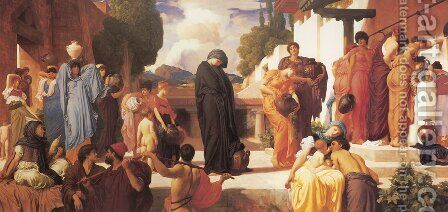 Captive Andromache by Lord Frederick Leighton - Reproduction Oil Painting