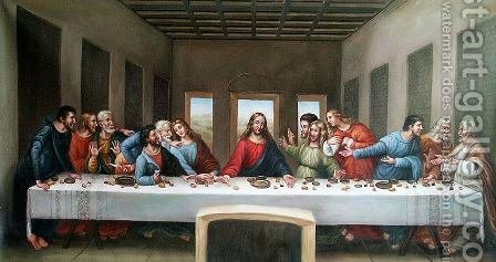 The Last Supper 1498 by Leonardo Da Vinci - Reproduction Oil Painting