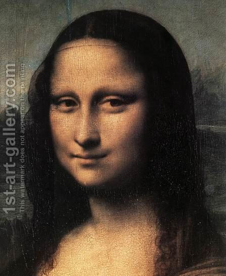Mona Lisa  Detail by Leonardo Da Vinci - Reproduction Oil Painting