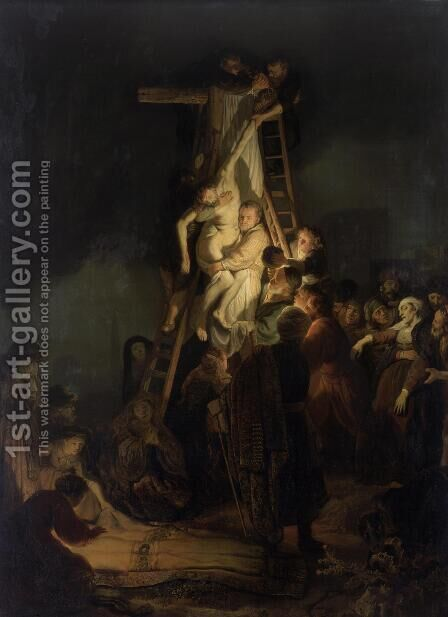 Descent from the Cross 1634 by Rembrandt - Reproduction Oil Painting