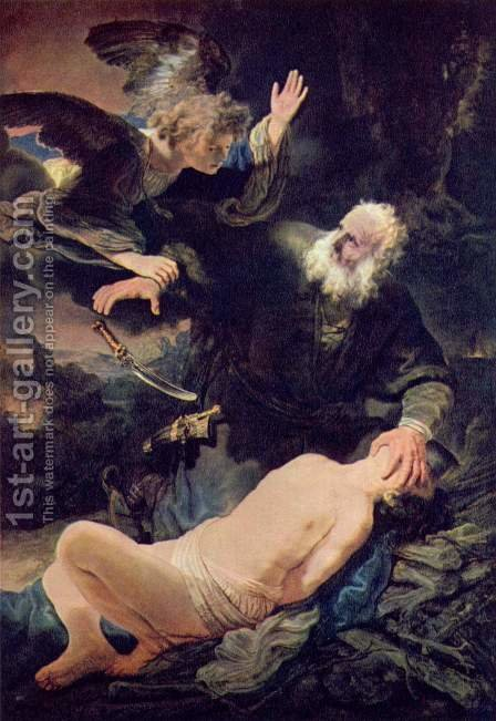 The Sacrifice of Abraham 1635 by Rembrandt - Reproduction Oil Painting