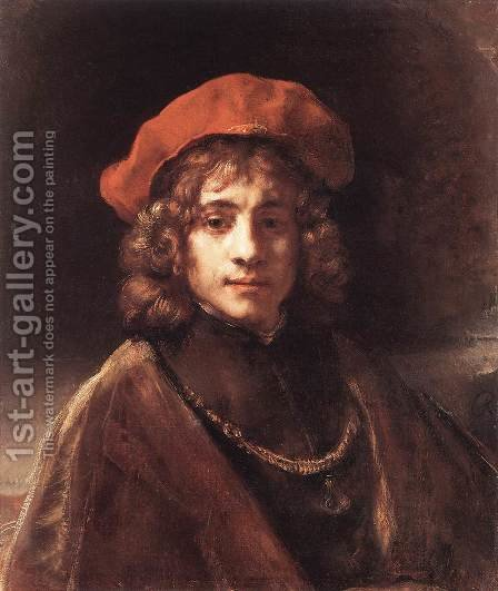 The Artist's Son Titus c. 1657 by Rembrandt - Reproduction Oil Painting