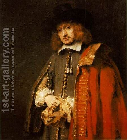 Jan Six 1654 by Rembrandt - Reproduction Oil Painting