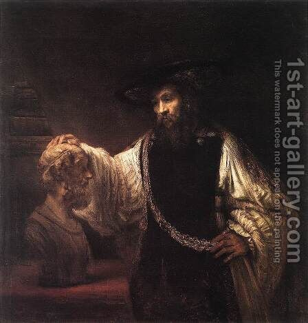 Aristotle with a Bust of Homer 1653 by Rembrandt - Reproduction Oil Painting