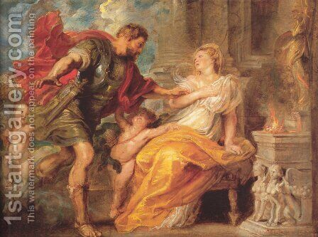 Mars And Rhea Silvia by Rubens - Reproduction Oil Painting