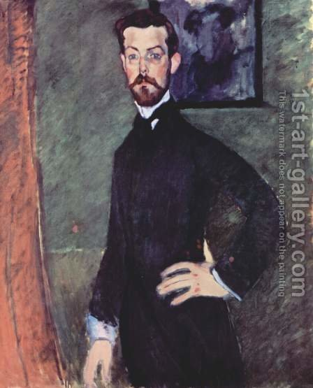 Portrait Of Paul Alexandre Against A Green Background by Amedeo Modigliani - Reproduction Oil Painting
