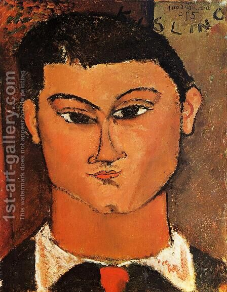 Portrait Of The Painter Moise Kisling by Amedeo Modigliani - Reproduction Oil Painting