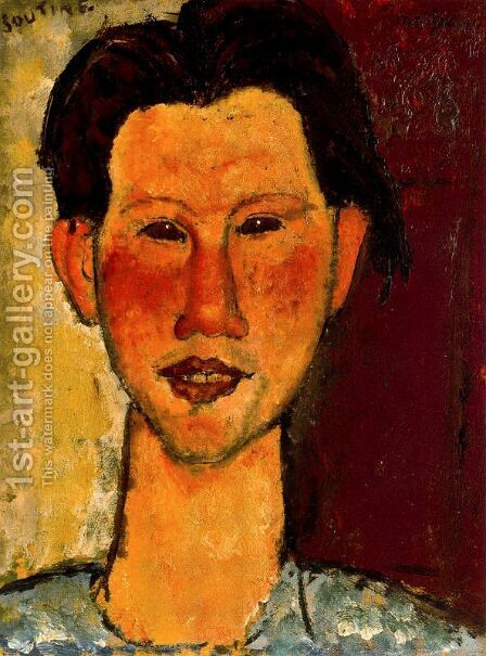 Portrait Of Chaim Soutine by Amedeo Modigliani - Reproduction Oil Painting