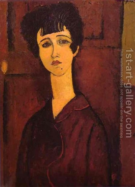 Portrait Of A Girl   Victoria by Amedeo Modigliani - Reproduction Oil Painting