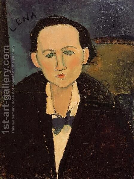 Portrait Of Elena Pavlowski by Amedeo Modigliani - Reproduction Oil Painting