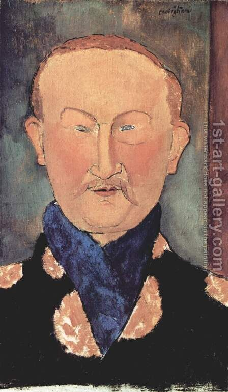 Portrait Of Leon Bakst by Amedeo Modigliani - Reproduction Oil Painting