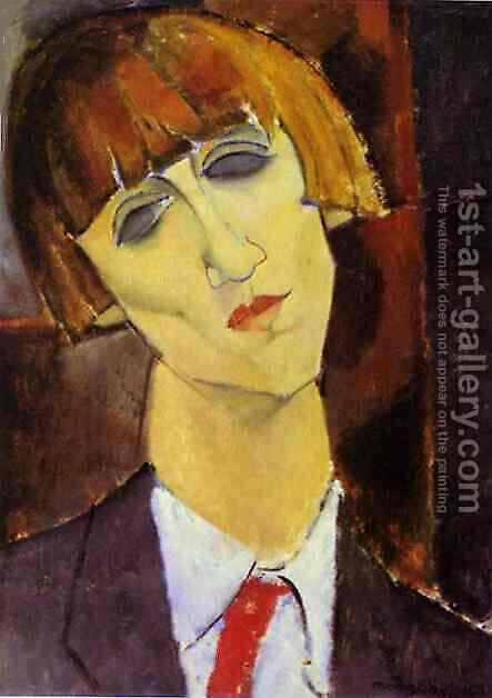 Portrait Of Madame Kisling by Amedeo Modigliani - Reproduction Oil Painting
