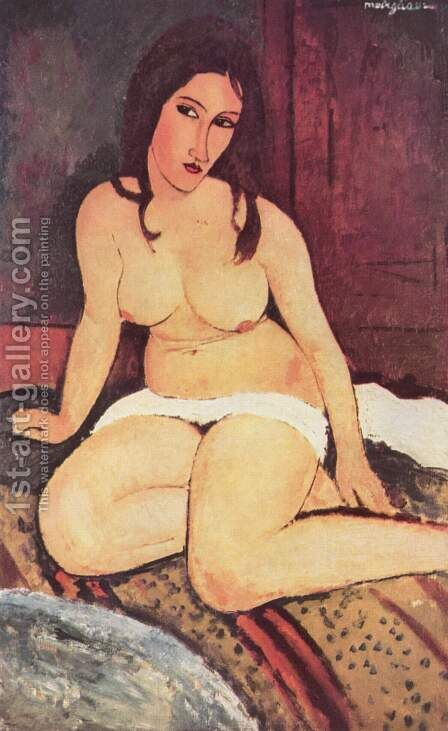 Seated Nude Ii by Amedeo Modigliani - Reproduction Oil Painting