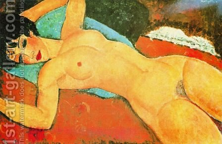 Sleeping Nude With Arms Open   Red Nude by Amedeo Modigliani - Reproduction Oil Painting