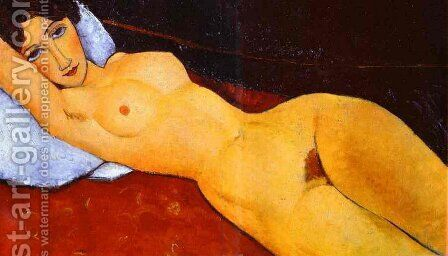 Reclining Nude by Amedeo Modigliani - Reproduction Oil Painting