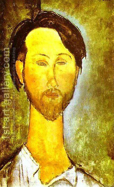 Portrait Of The Polish Poet And Art Dealer Leopold Zborovski by Amedeo Modigliani - Reproduction Oil Painting
