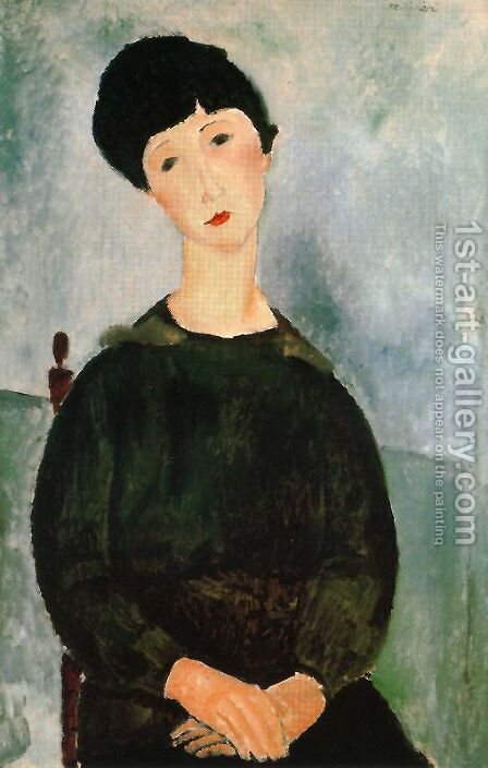 Young Girl by Amedeo Modigliani - Reproduction Oil Painting