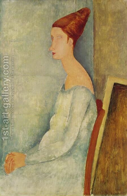 Portrait Of Jeanne Hebuterne In Profile I by Amedeo Modigliani - Reproduction Oil Painting