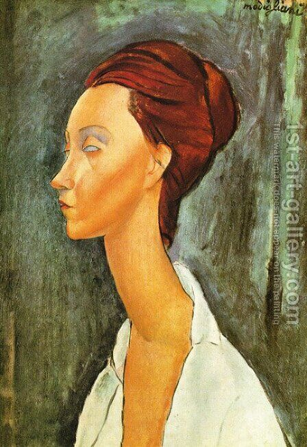 Portrait Of Lunia Czechovska by Amedeo Modigliani - Reproduction Oil Painting