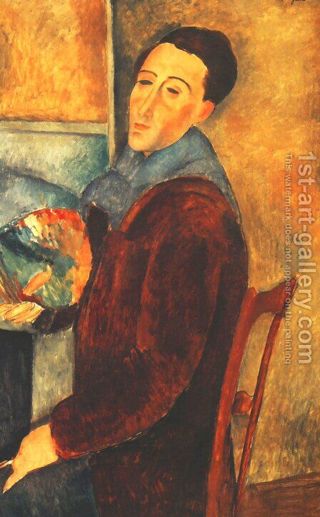 Self Portrait by Amedeo Modigliani - Reproduction Oil Painting