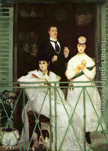 The Balcony  1868-69 by Edouard Manet - Reproduction Oil Painting